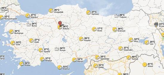Google Maps'e hava durumu katmanı eklendi