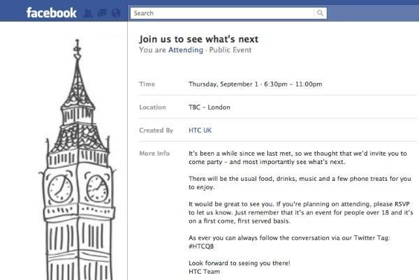 HTC, Facebook'tan Eylül ayındaki etkinliğinin duyurusunu yaptı