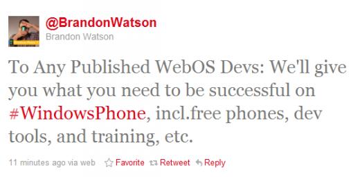 Microsoft webOS geliştiricilerine bünyesine katılması karşılığında ücretsiz cihaz, araçlar ve eğitim vaad ediyor