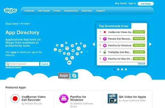 Skype, App Directory adlı üçüncü taraf uygulama dizini servisini başlattı