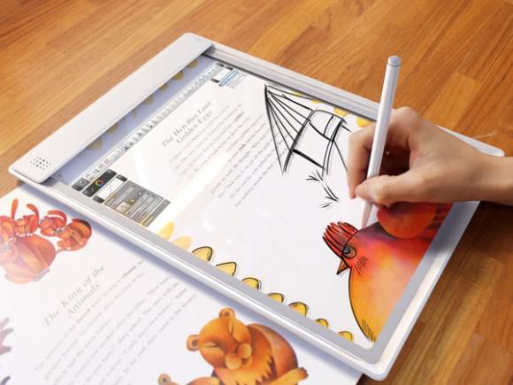 Iris şeffaf tablet konsepti artırılmış gerçeklik teknolojisini tarayıcı ile buluşturuyor