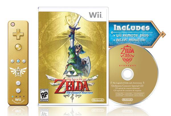 Nintendo'nun Legend of Zelda: Skyward Sword oyunu ve altın renkli Wiimote 20 Eylül'de piyasaya çıkıyor