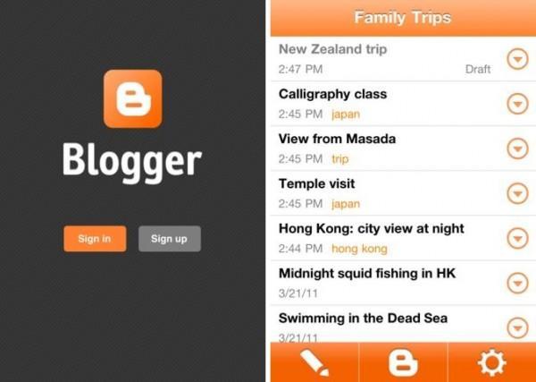 Google, iPhone için ilk Blogger uygulamasını yayınladı