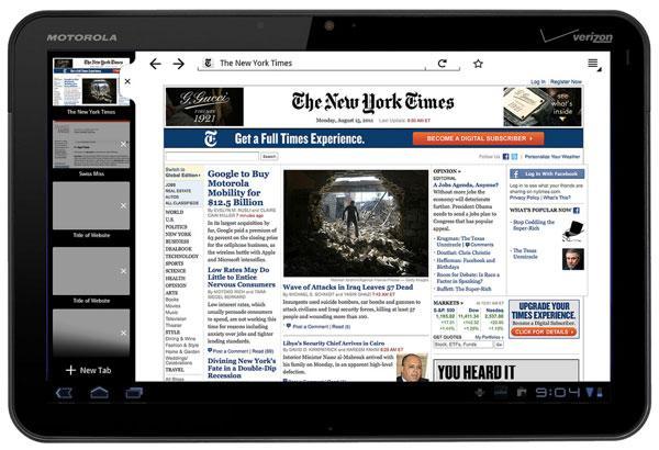 Honeycomb için Firefox mobil tarayıcısının son beta sürümü geliştiricilerin değerlendirmesine sunuldu