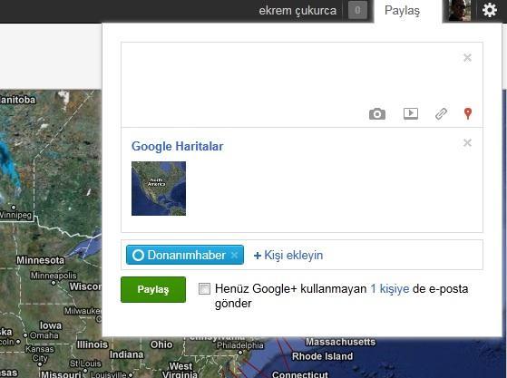 Google+ artık harita bilgilerini de paylaşmanıza izin verecek