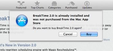 Mac App Store tekrar satın alınmak istenen uygulamalar için uyarı sistemi sunuyor