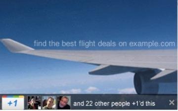 Google +1 butonu sanal reklamlara da geliyor