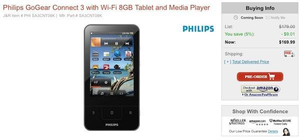 Philips'in Android tabanlı GoGear Connect medya oynatıcısı ön siparişe sunuldu