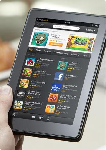 Amazon'un tableti Kindle Fire resmi olarak tanıtıldı