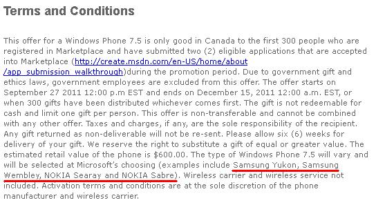 Nokia'nın Searay ve Sabre, Samsung'un Yukon ve Wembley Windows Phone cihazları listesi internete sızdı