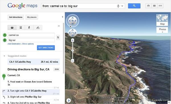 Google Maps helikopterden güzergah görünümü uygulamasını başlatıyor