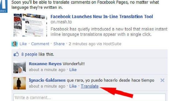 Facebook uygulama içi tercüme hizmetini başlattı