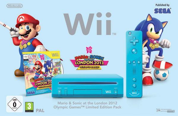 2012 Olimpiyatlarına özel Nintendo'dan mavi renk temalı Wii paketi