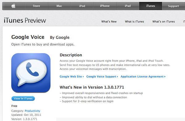 Google Voice uygulaması iOS 5 çökme problemleri nedeniyle App Store'dan kaldırıldı