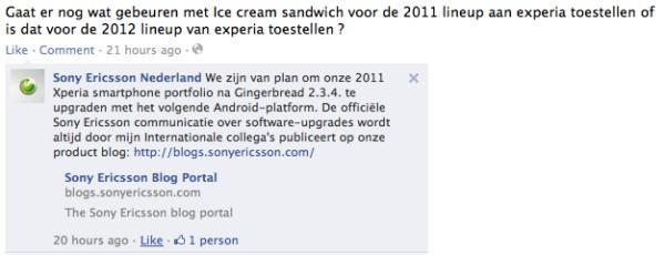 Sony Ericsson, Xperia modelleri için Ice Cream Sandwich hazırlıklarına başladı