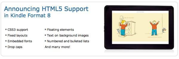 Amazon'un yeni e-kitap formatı HTML 5 desteği getiriyor