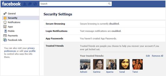 Facebook, Güvenilir Arkadaşlar özelliğini test ediyor