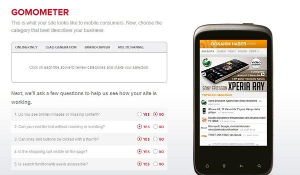 Google GoMo platformu, sitelerin mobil uyumluluğunu test etmek amacıyla hizmete girdi