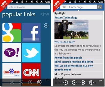 Baidu yeni web tarayıcısını Windows Phone Mango için İngilizce olarak yayınladı