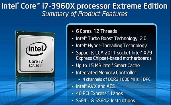 Core i7-3960X Extreme Edition'ın fiyatı resmileşti: 990$