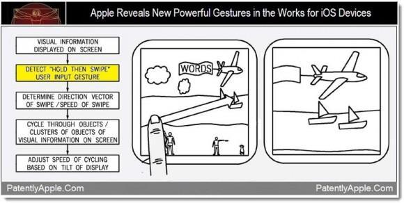 iOS cihazları için Sürükle ve Tut hareketi patent başvurusunda ortaya çıktı
