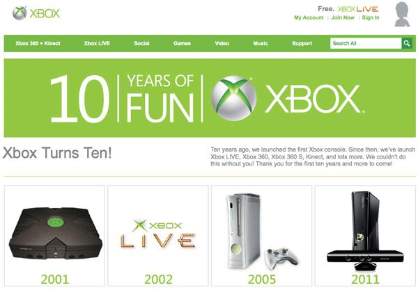 Microsoft Xbox 10. yılını geride bıraktı