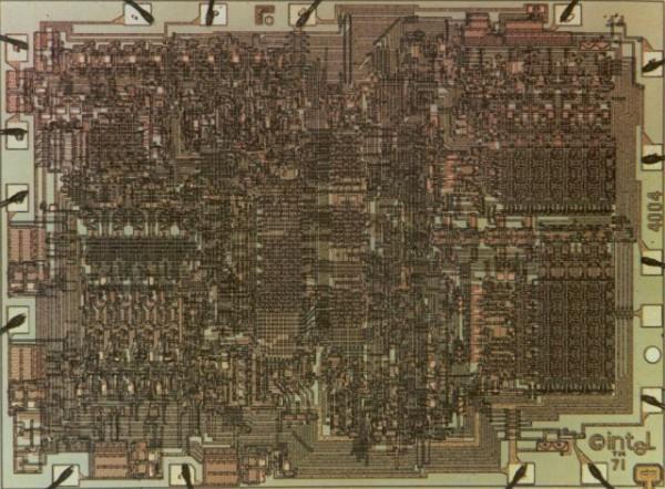 Dünyanın ilk ticari mikro işlemcisi Intel 4004, 40 yaşını doldurdu