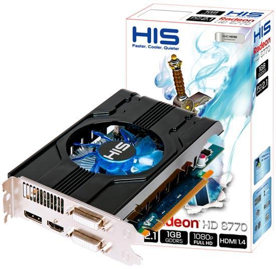 HIS özel tasarımlı ekran kartlarına HD 6770 tabanlı yeni bir model daha ekledi