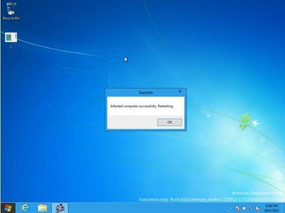 Windows 8'deki açık araştırmacılar tarafından ispat edildi