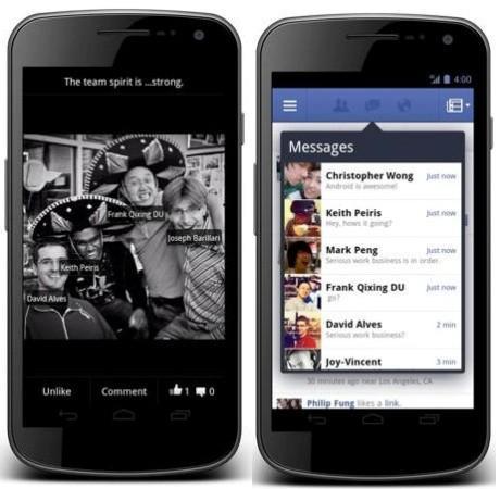 Android için Facebook uygulaması güncellendi