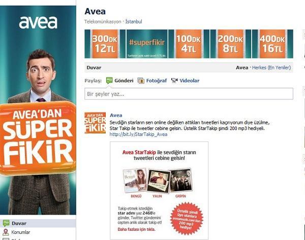 Türkiye'de Avea, Facebook hayran sayfalarında marka lideri oldu