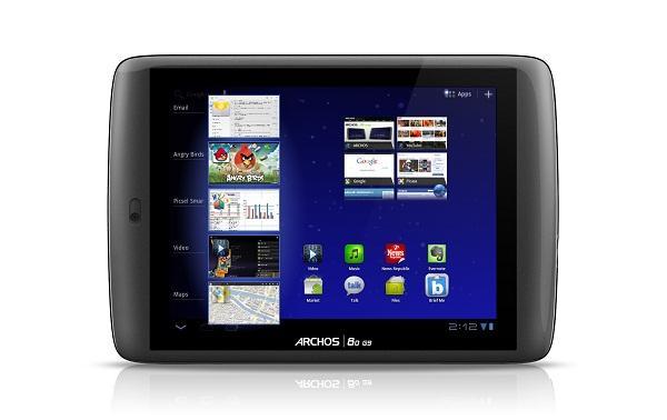 Archos G9 model tabletler 2012 ilk çeyrekte Android Ice Cream Sandwich güncellemesi alacak
