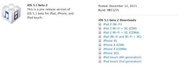 iOS 5.1 beta 2 geliştiricilere dağıtıldı