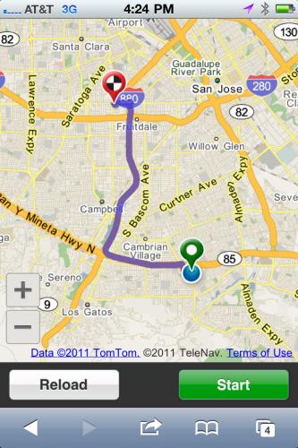TeleNav'dan dünyanın ilk GPS destekli ve HTML 5 tarayıcı tabanlı navigasyonu