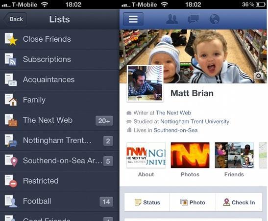 Facebook, iPhone uygulamasını güncelledi