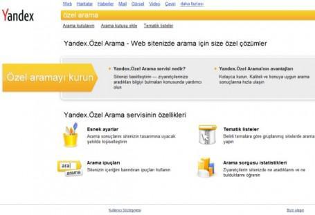 Yandex site içi özel arama motoru hizmetini başlattı
