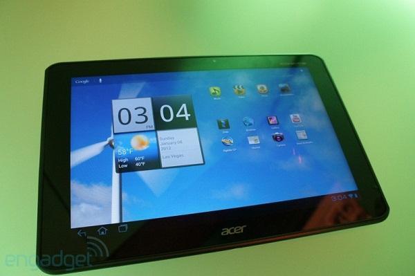 CES 2012 : Acer'ın 4 çekirdekli tableti Iconia Tab A700 fuarda yerini aldı