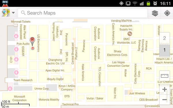 Google Maps iç mekan navigasyonu CES fuarını da kapsamı alanına aldı