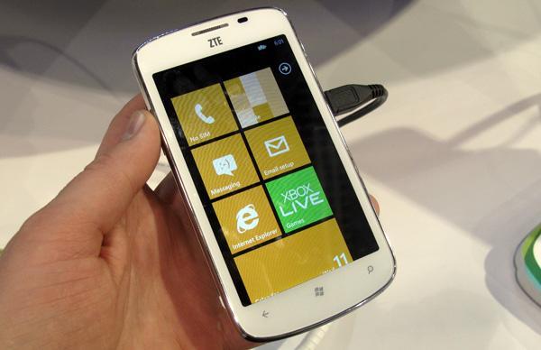ZTE, her Windows Phone cihazı için Microsoft'a 27$ lisans bedeli ödüyor
