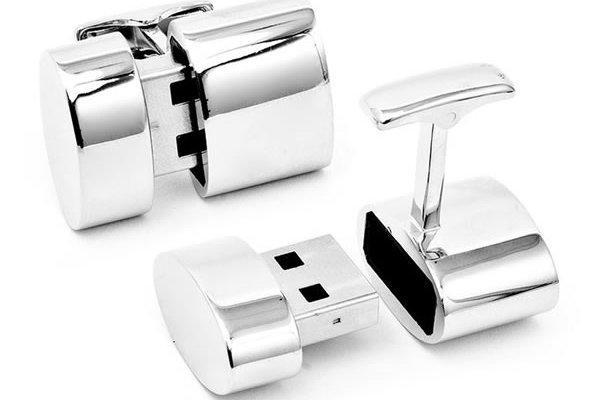 Brookstone'dan USB bellekli ve WiFi hotspot özellikli kol düğmesi