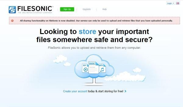 Filesonic dosya paylaşım hizmetini durdurdu, Uploaded ABD'den erişimleri engelledi
