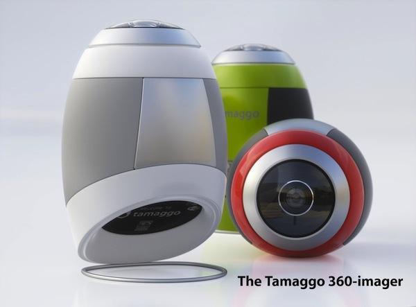 CES 2012 : Tamaggo 360-imager cihazı PC veya telefona bağlanarak 360 derecelik panoramik imajlamalar yapabiliyor