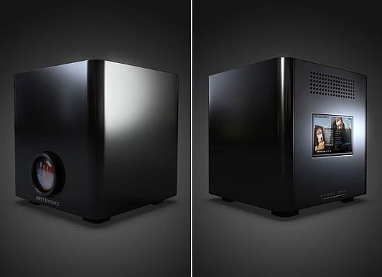 BryteWerks Model One hem ev sineması PC'sini hem de 16:10 HD projeksiyon cihazını biraraya getiriyor
