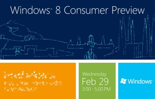 Windows 8 Tüketici Önizleme sürümü 29 Şubat'ta yayınlanıyor