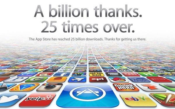 Apple App Store 25 milyar indirme sayısını geride bıraktı
