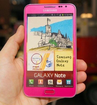 Samsung pembe renkli Galaxy Note modelini onayladı