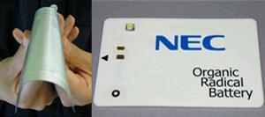 0.3mm inceliğindeki organik batarya, devre kartlarına uygulanabiliyor