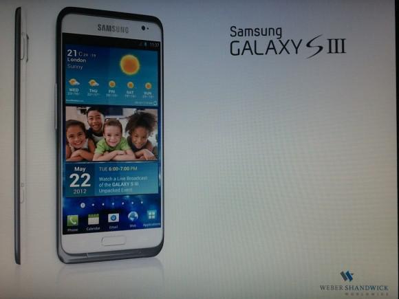 Samsung Galaxy SIII'e ait bir basın görseli ortaya çıktı