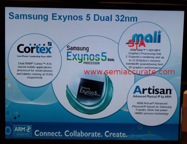 Samsung Exynos 5. nesil işlemcilere ait olduğu belirtilen bir slayt internete sızdırıldı