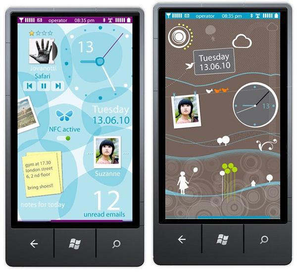 Nokia'nın Windows Phone cihazları için tasarlanan arayüz örnekleri ortaya çıktı